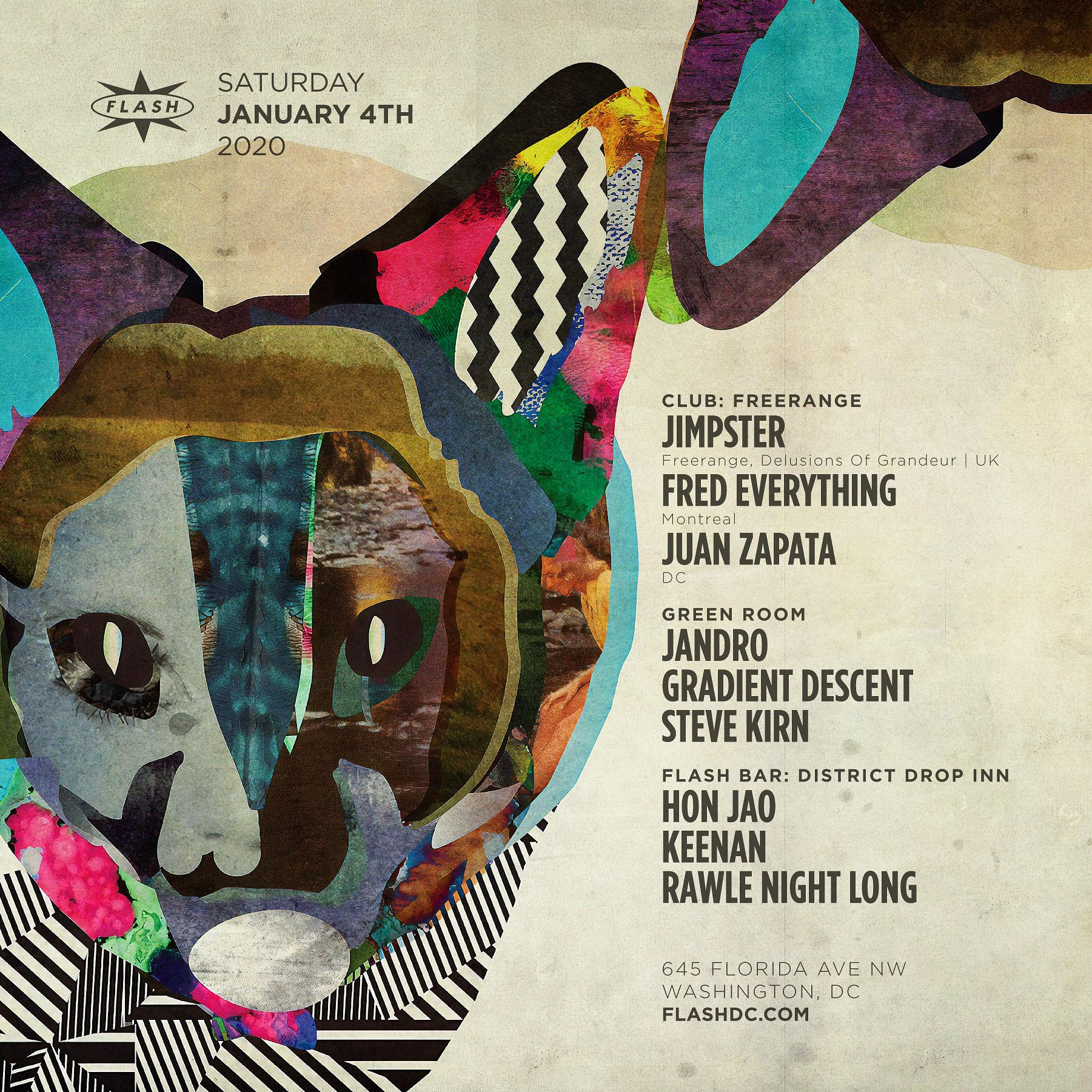 Freerange: Jimpster - Fred Everything - Juan Zapata event thumbnail