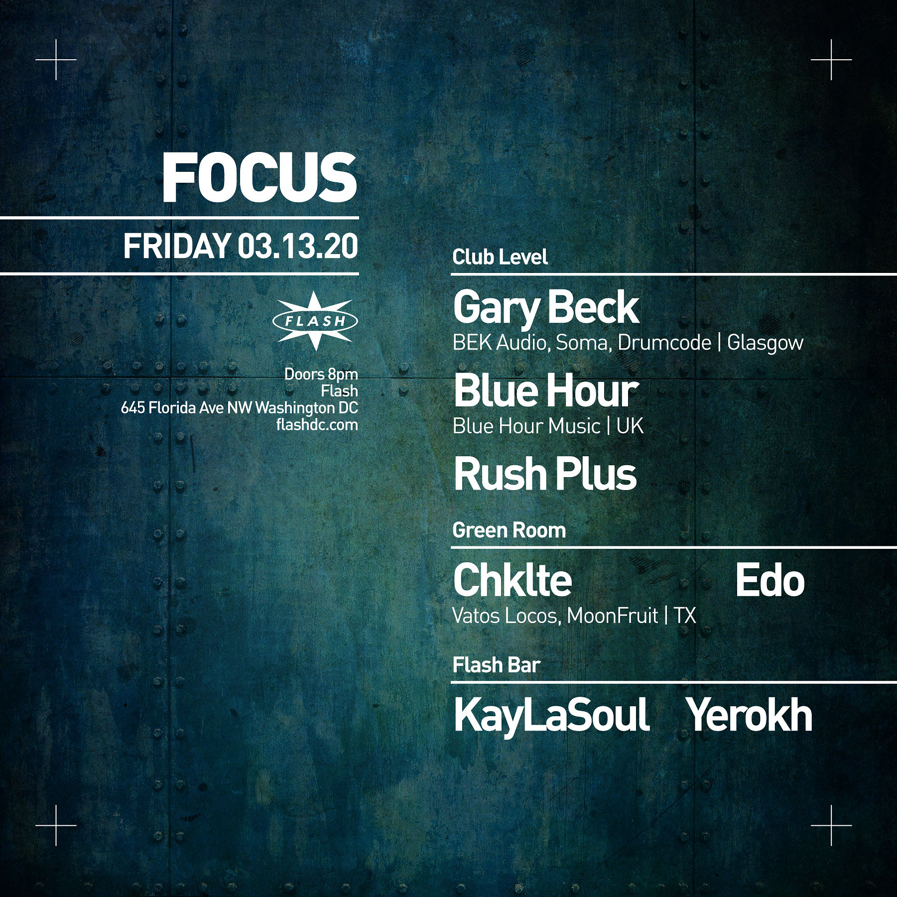 FOCUS: Gary Beck - Blue Hour - Chklte event thumbnail