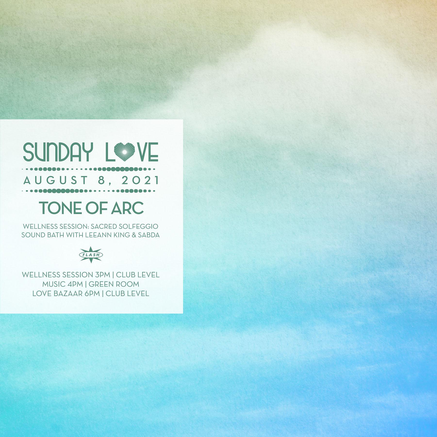 Sunday Love presents: Tone of Arc event thumbnail