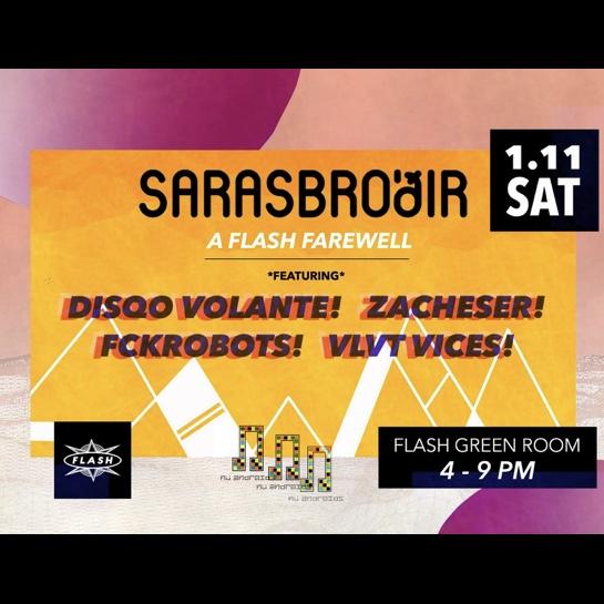 Sarasbrodir: A Flash Farewell on  Flash Rooftop event thumbnail
