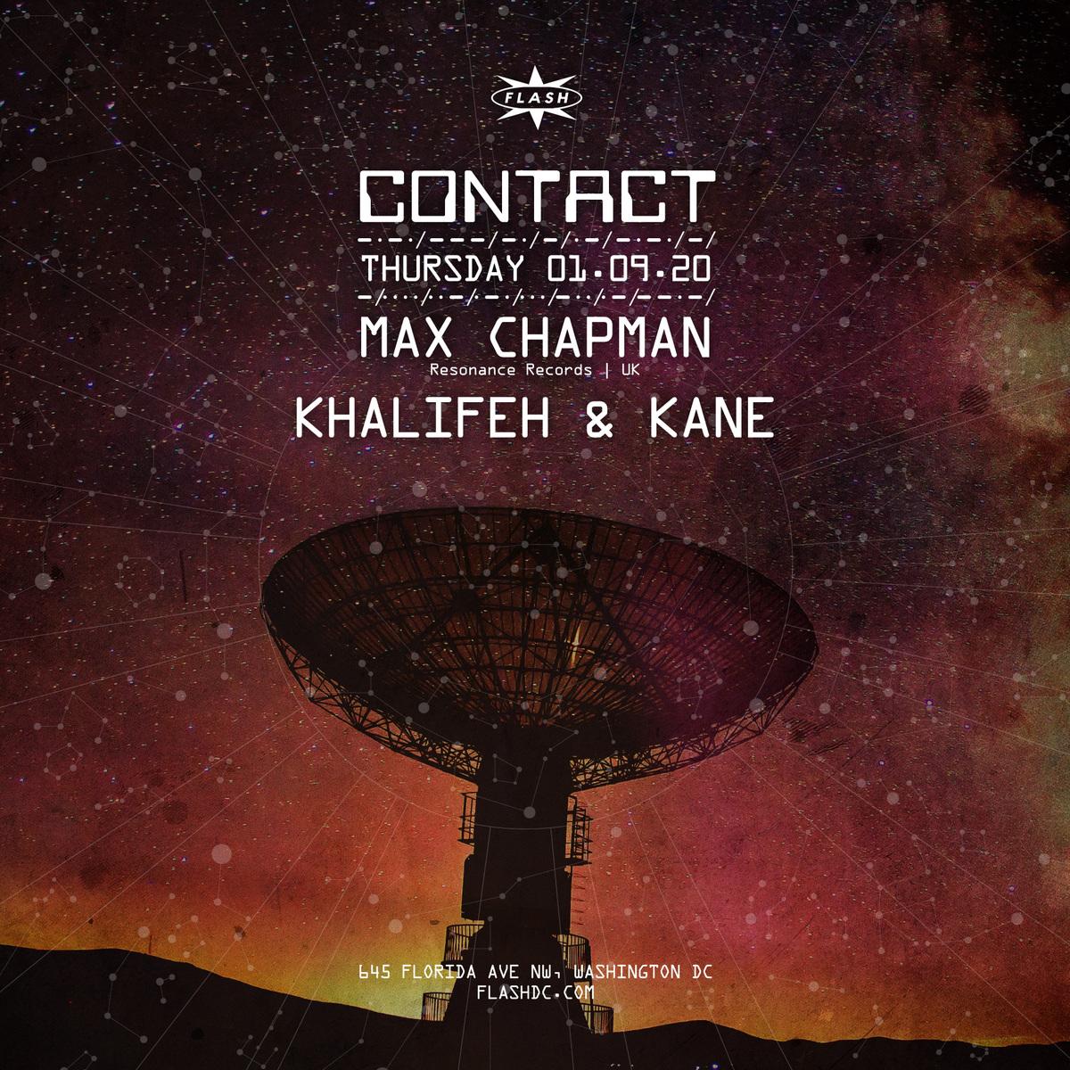 CONTACT: Max Chapman event thumbnail