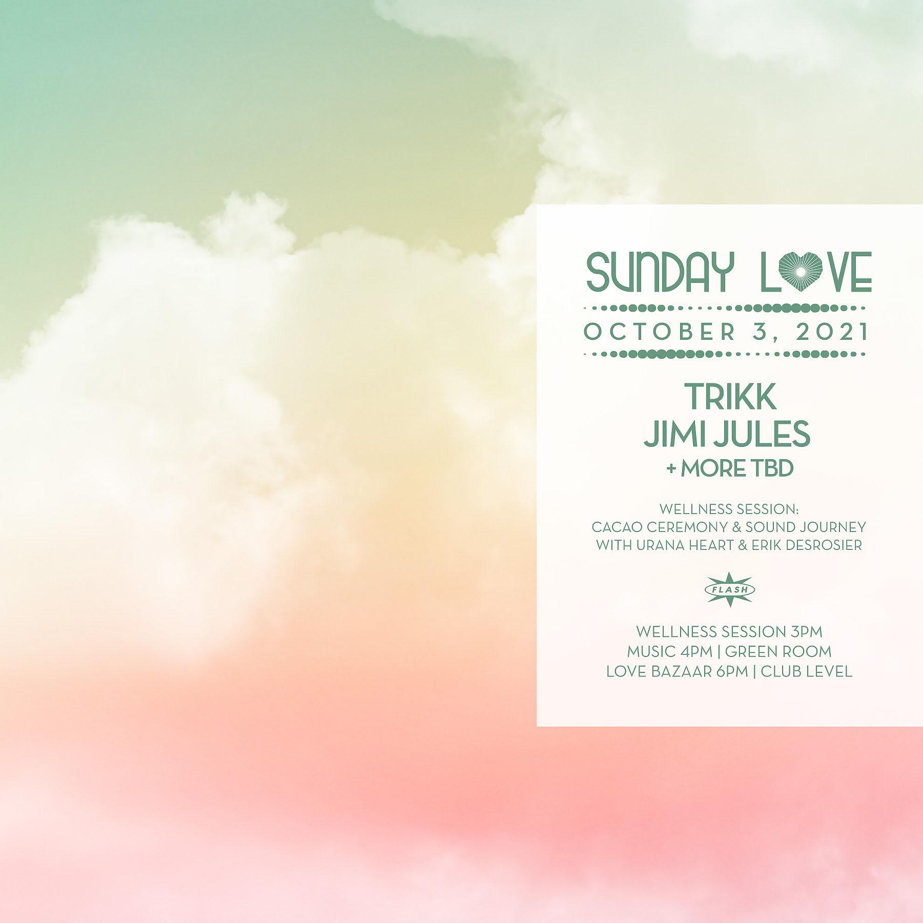 Sunday Love: Trikk - Jimi Jules event thumbnail